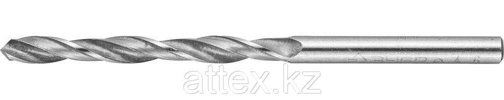 """Сверло ЗУБР """"МАСТЕР"""" по металлу, цилиндрический хвостовик, быстрорежущая сталь Р6М5, 4,6х80мм 4-29621-080-4.6"""