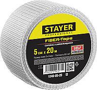 Серпянка самоклеящаяся FIBER-Tape, 5 см х 20м, STAYER Professional 1246-05-20  1246-05-20_z01, фото 1