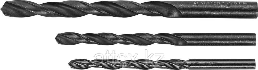 "Набор STAYER ""MASTER"" Свёрла по металлу, быстрорежущая сталь, на карточке, 5, 6, 8мм, 3шт  2961-H3_z01"