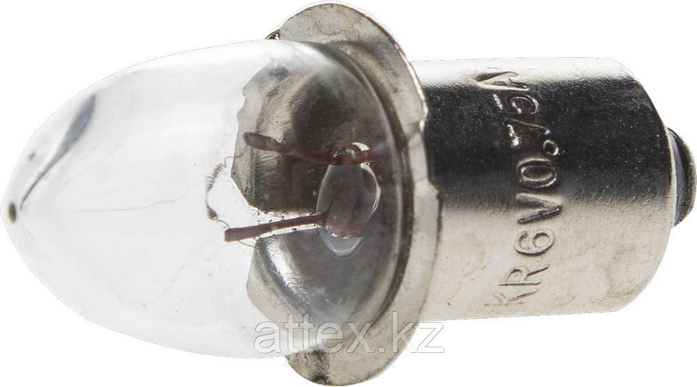 Лампа криптоновая СВЕТОЗАР без резьбы,  для фонарей с 5-ю батареями, 6 В / 0,75 А SV-56974