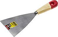 """Шпательная лопатка STAYER """"MASTER"""" c деревянной ручкой, 100 мм 1001-100"""
