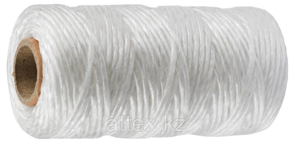 Шпагат ЗУБР многоцелевой полипропиленовый, белый, d=1,8 мм, 60 м, 50 кгс, 1,2 ктекс 50031-060