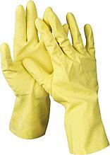 Перчатки DEXX латексные, х/б напыление, рифлёные, XL 11201-XL