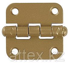 """Петля накладная стальная """"ПН-40"""", цвет золотой металлик, универсальная, 40мм  37623-40"""