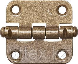 """Петля накладная стальная """"ПН-40"""", цвет бронзовый металлик, универсальная, 40мм  37625-40"""