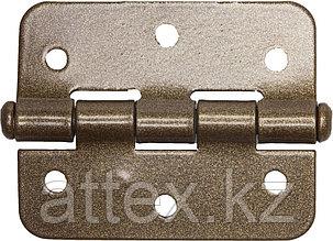 """Петля накладная стальная """"ПН-60"""", цвет бронзовый металлик, универсальная, 60мм  37635-60"""