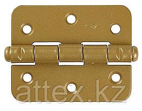 """Петля накладная стальная """"ПН-60"""", цвет золотой металлик, универсальная, 60мм  37633-60"""