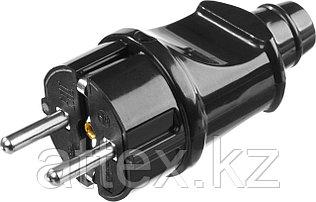 """Вилка STAYER """"MASTER"""" электрическая, с заземлением, 16А/220В, черная 55160-B"""