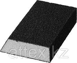"""Губка шлифовальная STAYER """"MASTER"""" угловая, зерно - оксид алюминия, Р80, 100 x 68 x 42 x 26 мм, средняя жесткость. 3561-080"""