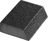 """Губка шлифовальная STAYER """"MASTER"""" угловая, зерно - оксид алюминия, Р120, 100 x 68 x 42 x 26 мм, средняя жесткость. 3561-120"""