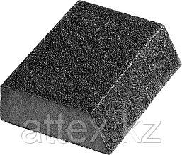 """Губка шлифовальная STAYER """"MASTER"""" угловая, зерно - оксид алюминия, Р320, 100 x 68 x 42 x 26 мм, средняя жесткость. 3561-320"""