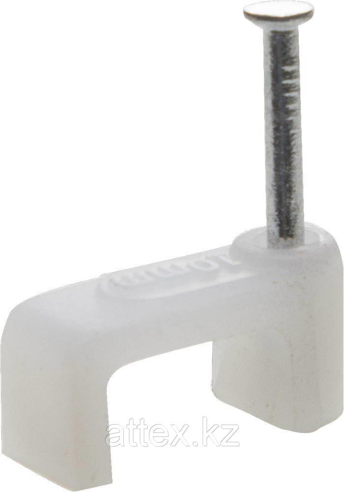 Скоба-держатель для плоского кабеля, с оцинкованным гвоздем, 9 мм, 80 шт, STAYER Master 4511-09