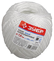 Шпагат ЗУБР полипропиленовый, d=1,6 мм, 130 м, белый, 22 кгс, 1,0 ктекс 50100-130