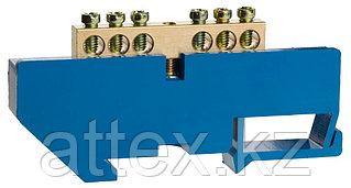 Шина СВЕТОЗАР нулевая на DIN-изоляторе, макс. ток 100А, 5,2мм, 6 полюсов 49807-06