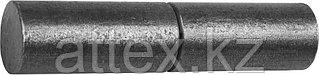 Петля СИБИН для металлических дверей, галтованная, цилиндрической формы, с впрессованным шариком, 18х100мм 37617-100-18