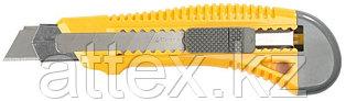 """Нож STAYER """"STANDARD"""" с выдвижным сегмент. лезвием, пластмасс. упроч.,18мм 0913"""