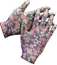 Перчатки GRINDA садовые, прозрачное нитриловое покрытие, размер S-M, черные 11297-S
