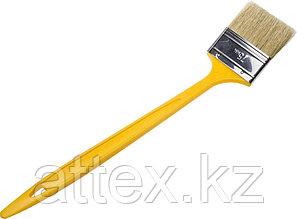 """Кисть радиаторная STAYER """"UNIVERSAL-MASTER"""", светлая натуральная щетина, пластмассовая ручка, 75мм  0110-75_z01"""
