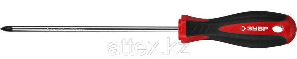"Отвертка ЗУБР ""МАСТЕР"", Cr-v, эргономичная двухкомпонентная рукоятка, PH1x150мм  25062-1-150_z02"