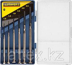"""STAYER """"MASTER"""". Набор: Отвертки часовые для особо точных работ, с цельнометаллическими рукоятками  2560-H6_z01"""