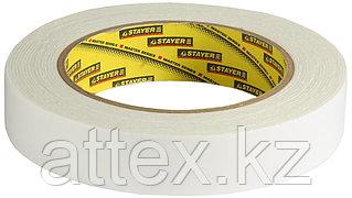 Двухсторонняя клейкая лента на вспененной основе, STAYER Professional 12231-25-05, белая, 25мм х 5м