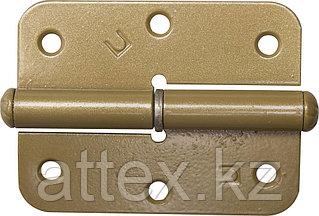 """Петля накладная стальная """"ПН-85"""", цвет золотой металлик, правая, 85мм  37643-85R"""