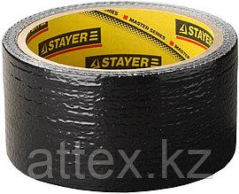 """Армированная лента STAYER """"PROFESSIONAL"""", универсальная, влагостойкая, 48мм х 10м, черная 12086-50-10"""