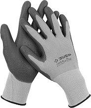 """Перчатки ЗУБР """"МАСТЕР"""" для точных работ с полиуретановым покрытием, размер L (9) 11275-L"""