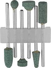 Набор STAYER: Насадки шлифовальные абразивные с оправкой, карбид кремния, 6шт 29921-H6