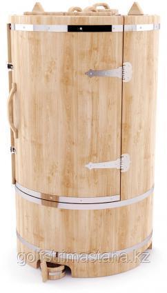 Фитобочка гигант 100*130 см. стенки 4 см./ кедровая / круглая / Профессиональная