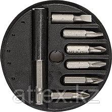 """Набор STAYER Биты """"MASTER"""" с магнитным адаптером в круглом мини-боксе, PH1, PH2, PZ1, PZ2, SL4,5, SL  2607-H7_z01"""