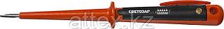 Пробник СВЕТОЗАР электрический, цельнолитой пластмассовый корпус, на карточке, 100-250В, 190мм SV-45161-19