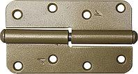"""Петля накладная стальная """"ПН-110"""", цвет золотой металлик, левая, 110мм  37653-110L"""