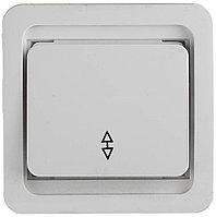 """Выключатель СВЕТОЗАР """"ГАММА"""" проходной одноклавишный, без подсветки, цвет белый, 10А/~250В SV-54137-W"""