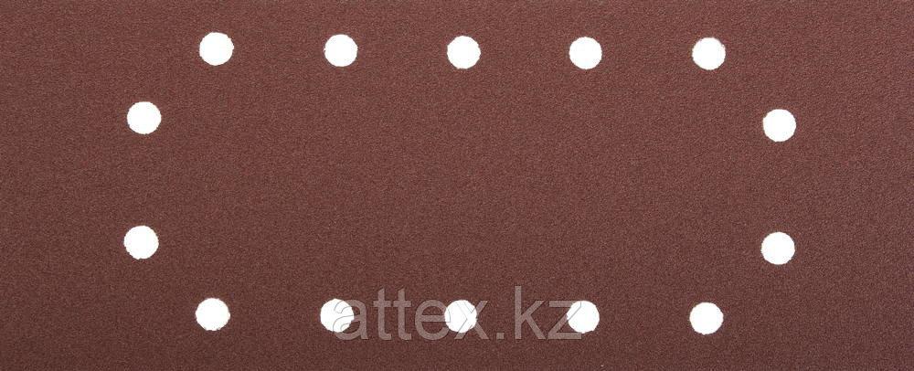 """Лист шлифовальный ЗУБР """"МАСТЕР"""", 14 отверстий, для ПШМ на зажимах, Р80, 115х280мм, 5шт 35594-080"""