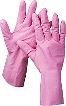 """Перчатки ЗУБР """"МАСТЕР"""" латексные, повышенной прочности, х/б напыление, рифлёные, 100% латекс, 100% хлопок, размер XL 11250-XL"""