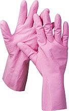 """Перчатки ЗУБР """"МАСТЕР"""" латексные, повышенной прочности, х/б напыление, рифлёные, 100% латекс, 100% хлопок, размер L 11250-L"""