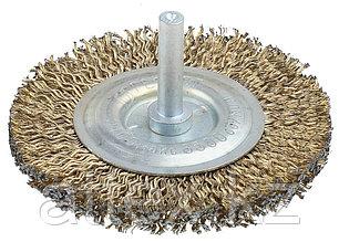 Щетка дисковая для дрели, стальная со шпилькой, 80мм  3517-080