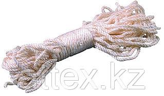Веревка ЗУБР капроновая, d=4,0 мм, 20 м, 180 кгс, 6,5 ктекс 50204
