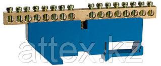 Шина СВЕТОЗАР нулевая на DIN-изоляторе, макс. ток 100А, 5,2мм, 16 полюсов 49807-16
