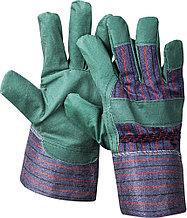 """Перчатки STAYER """"MASTER"""" рабочие, искусственная кожа, зеленые, XL 1132-XL"""