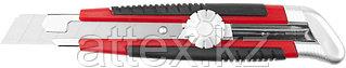 Нож URAGAN с выдвижным сегментированным лезвием, двухкомп корпус, механический фиксатор, инструмента 09187