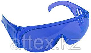 """Очки STAYER """"STANDARD"""" защитные, поликарбонатная монолинза с боковой вентиляцией, голубые 11047"""