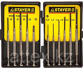 """STAYER """"MASTER"""". Набор: Отвертки часовые для особо точных работ, с цельнометаллическими рукоятками  2560-H11_z01"""