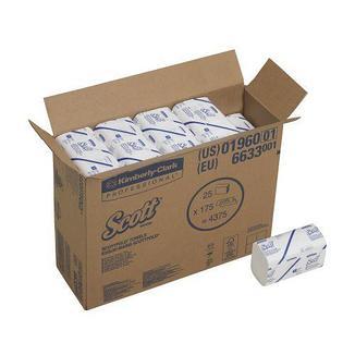 Листовые бумажные полотенца в пачках Scott Scottfold M 6633, фото 2