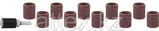 Цилиндр STAYER шлифовальный абразивный, с оправкой, d 18,7мм, Р 80/120, 10шт 29918-H10
