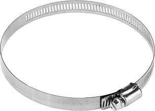 Хомуты, нерж. сталь, просечная лента 12,7 мм, 105-127 мм, 2 шт, ЗУБР Профессионал 37815-105-127-2