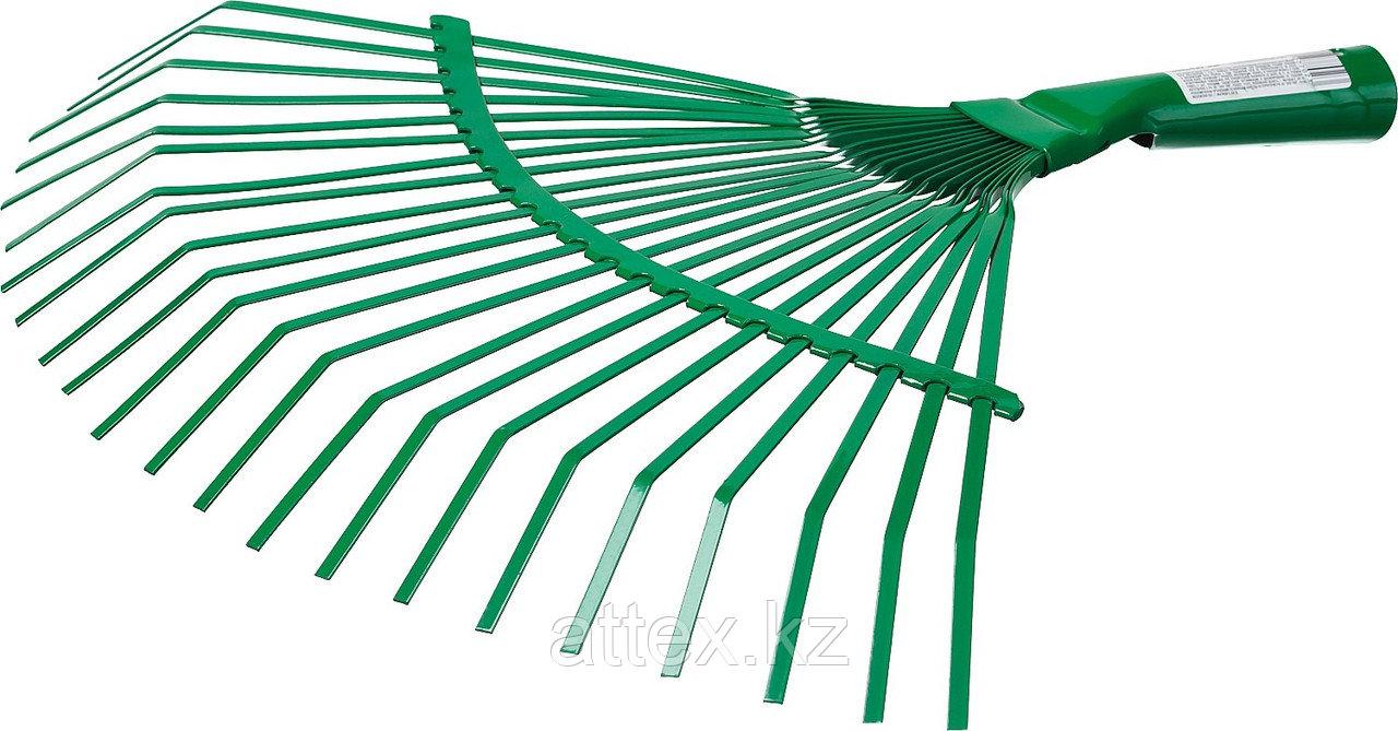 Грабли веерные без черенка, РОСТОК 39621, пластинчатые, 385x450 мм  39621_z01