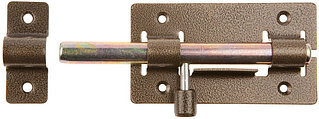 """Задвижка накладная """"ЗД-01"""" для дверей, корпус-порошковое покрыт/стержень-покрыт цинк, бронза, круг засов 14мм, 64х115мм  37774-1"""