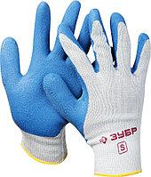 Перчатки трикотажные с латексным покрытием Зубр 11260-S
